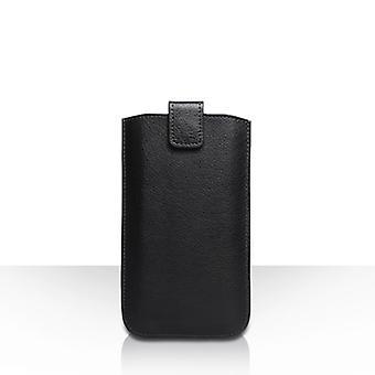 Caseflex petit texturé poche téléphone retour effet-cuir - noir