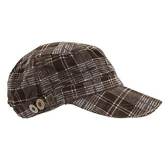 Growcocks Unisex Checked Cadet Cap