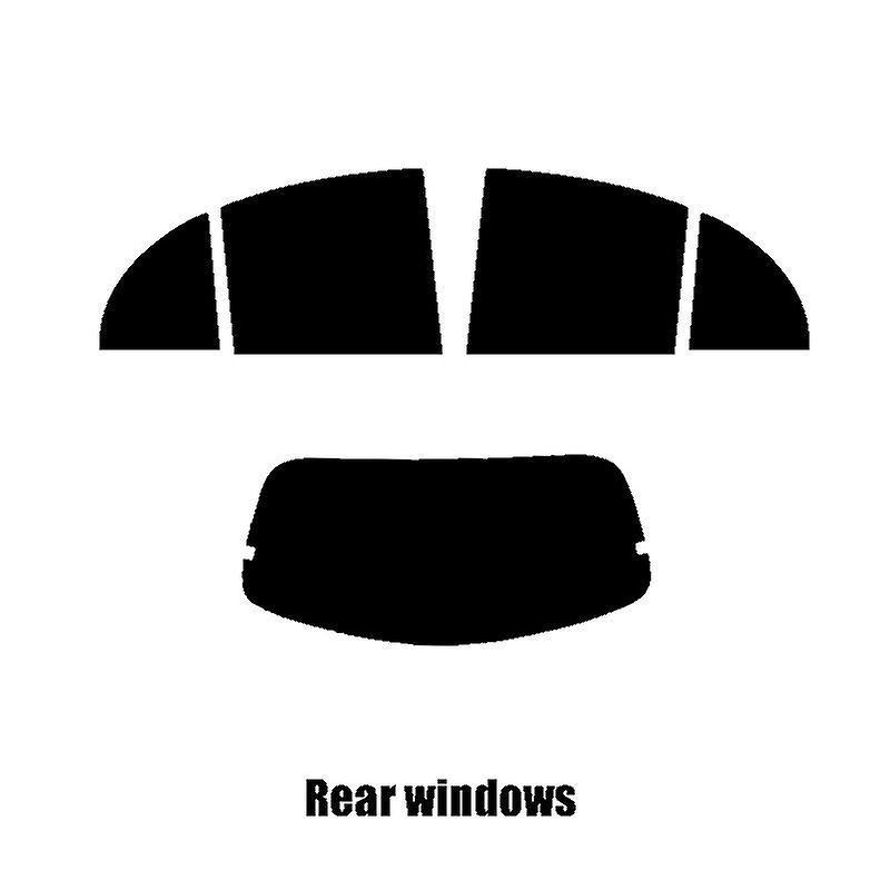 Pre cut window tint - Nissan Micra 5-door - 2010 to 2017 - Rear windows
