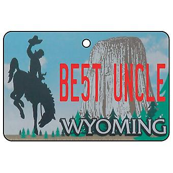 Wyoming - Best Uncle License Plate Car Air Freshener