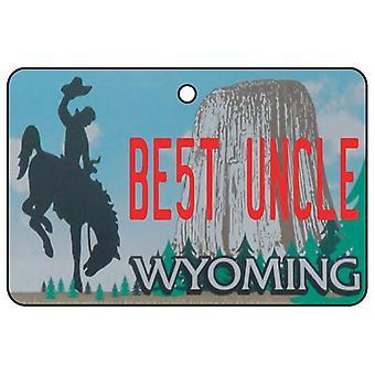 Wyoming - bästa farbror licens plattan bil luftfräschare