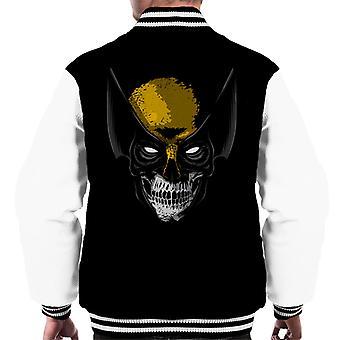 Wolverine Skull Men's Varsity Jacket