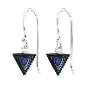 Triangle - 925 Sterling Silver Plain Earrings - W31920X