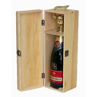 35cm Single Bottle Wooden Box