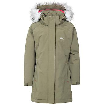 Trespass Girls Fame Waterproof Windproof Longer Length Padded Jacket