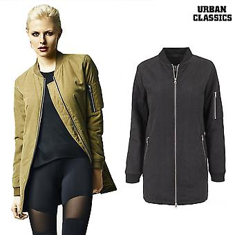 Urban classics ladies jacket in Peached long bomber