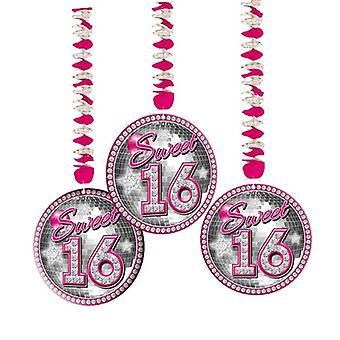 Bobina de rotor Teenieparty Dekospiralen dulce 16 rosa pedazo de cumpleaños 3