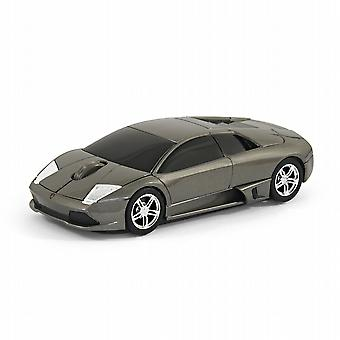 Official Lamborghini Murcielago Car Wireless Computer Mouse - Grey