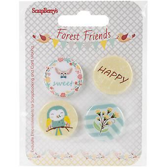Scrapberry's Forest Friends Embellishments-#3