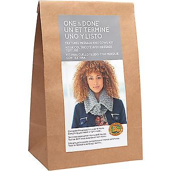 One & Done Yarn Kit-Textured Message Knit Cowl