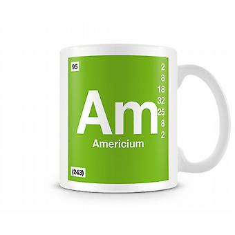 Element Symbol 095 Am - Americium Printed Mug