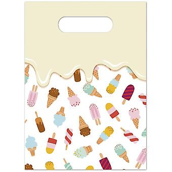 Ice cream ice cream party bags gift bags 6 piece children birthday theme party