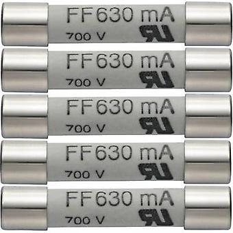 Fuse testo 0590 0007 Multimeter fuse 5pc set of spare fuses 630 mA/600 V, 0590 0007