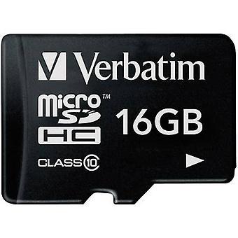 Verbatim Premium MicroSDHC-Karte 16 GB Class 10