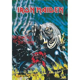Iron Maiden Number Of The Beast Large Fabric Poster/ Flag 1100Mm X 700Mm