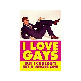 I Love Gays But... Funny Fridge Magnet