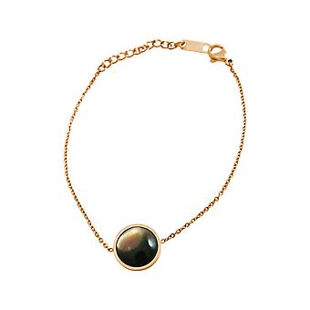 GEMSHINE ladies bracelet with mother of Pearl. Adjustable bracelet made of silver, gold plated, rose. High-quality processed in an eldlen pouch with gift wrapping
