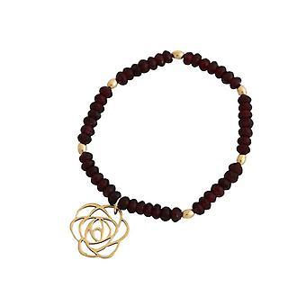 Garnet armband armband Garnet Garnet jewelry bloem Art-Deco verguld