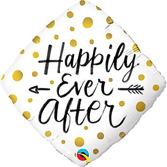 Qualatex 18in Happily Ever After Dots Foil Balloon