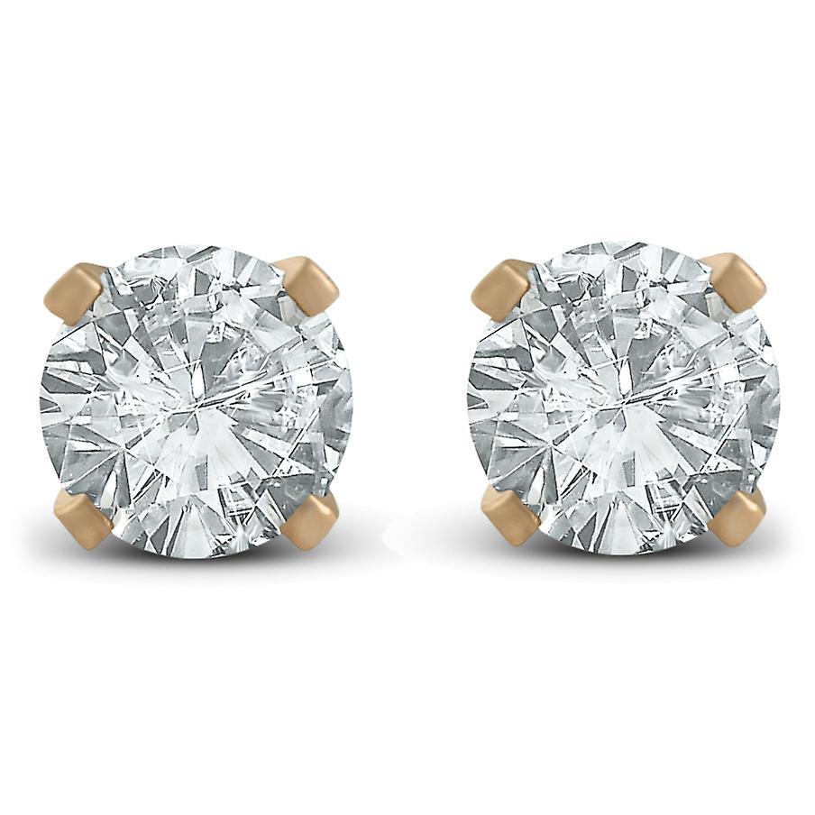 1 3ct Diamond Studs Earrings 14K jaune or