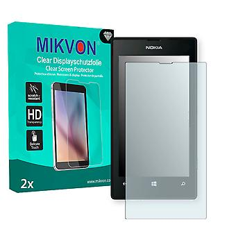 Nokia Lumia 525 Screen Protector - Mikvon Clear (Retail Package with accessories)