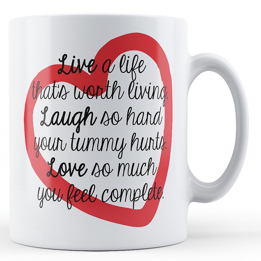 Vivre Une VécueImprimé Vie Qui D'être Digne Mug Est N0vnwm8