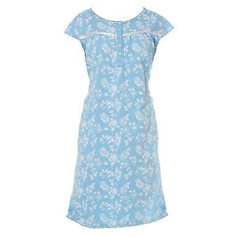 Damen Walter Grange klassischen floralen Druck Kurzarm Nachthemd Nachtwäsche