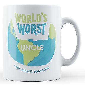 Weltweit schlimmsten Onkel - bedruckte Becher
