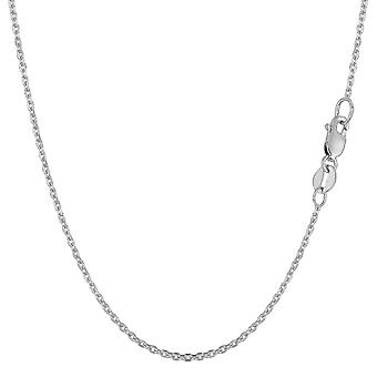 14k White Gold Cable Link Chain Necklace, 1.1mm