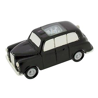 Gift Time Products London Style Taxi Mini Clock - Black