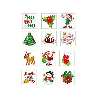 12 Christmas Temporary Tattoos for Kids Party Bags