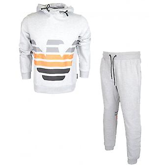 Emporio Armani Cotton Overhead Hooded Grey Tracksuit