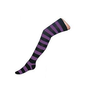 Haltung Kleidung gestreifte Socken