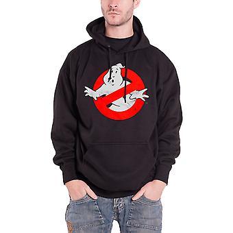 Ghostbusters Hoodie Distressed Logo Official Mens Black