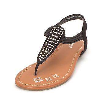 Kids Arizona Jean Co Girls Sparkling Slip On Ankle Strap Slide Sandals