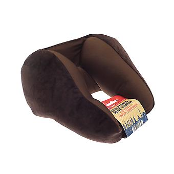 Globetrek International Sculptured Neck Pillow, Brown