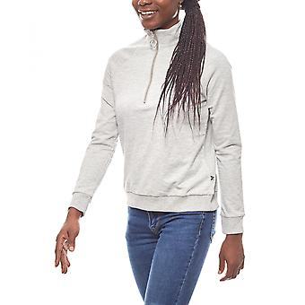 Noisy may stylish ladies sweater with zipper grey