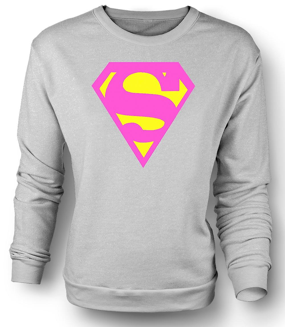 Mens Sweatshirt Supergirl - Comic - Hero - Funny