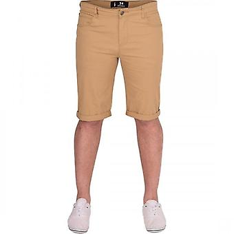 Spindle New Mens Spindle High Quality Slim Fit Stretch Cotton Chino Shorts Summer Smart Casual Turn Up Short