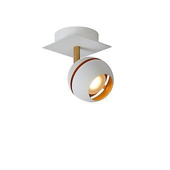 Lucide Binari Modern Square Metal White Ceiling Spot Light