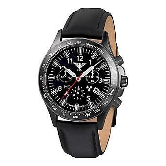 KHS watches mens watch black platoon titanium chronograph KHS. BPTC. L