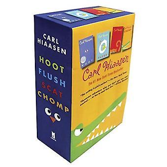 Hiaasen 4-Book Trade Paperback Box Set (Chomp, Flush, Hoot, Scat)