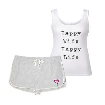 Lycklig hustru lyckligt liv pyjamas