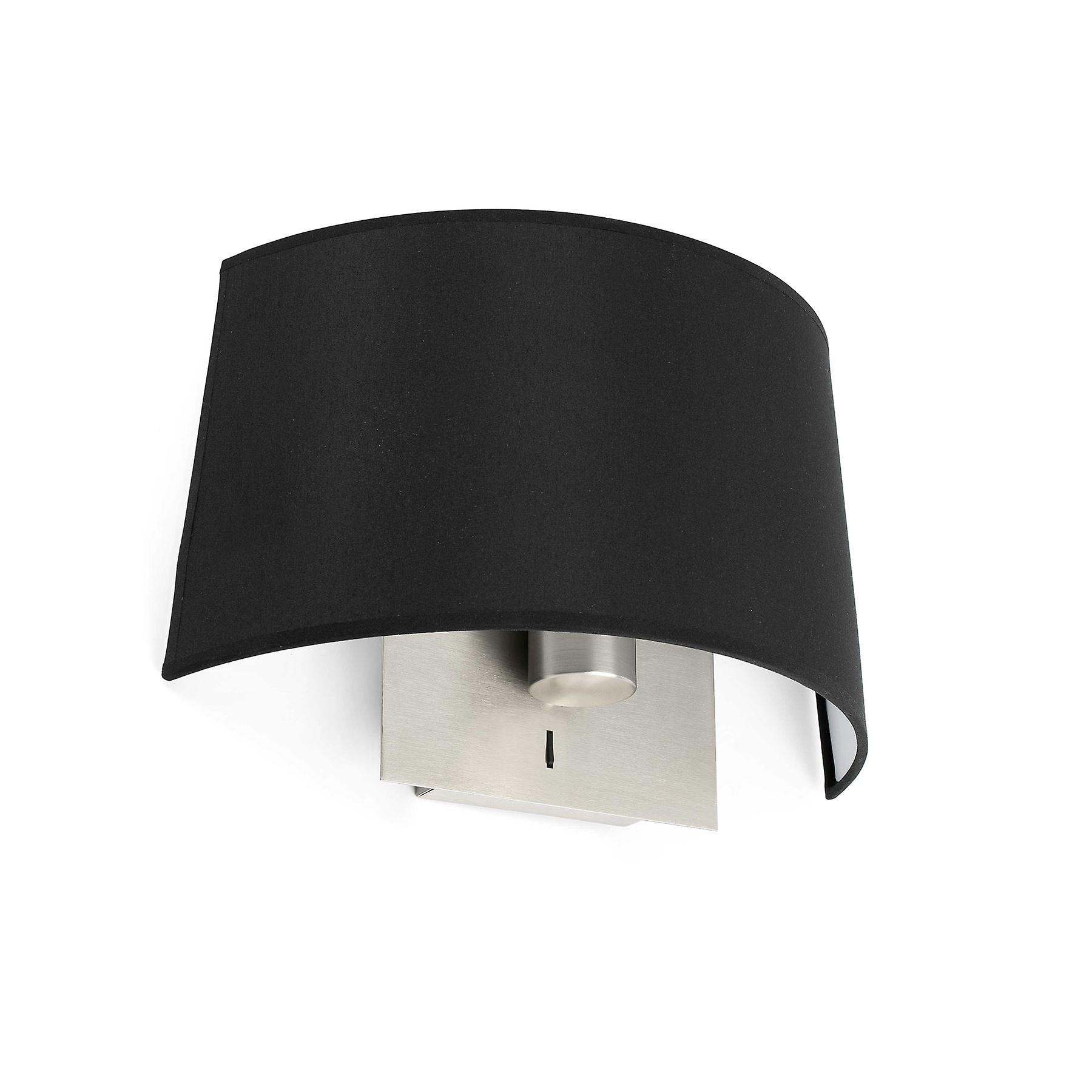 Faro - Volta Satin Nickel And noir Wall Lamp FARO20022