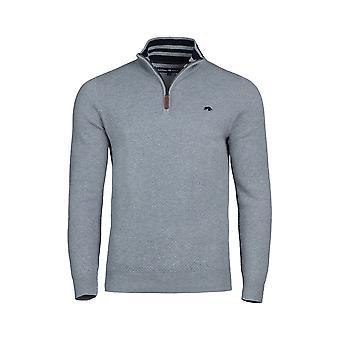 Textured Knit Quarter Zip - Grey