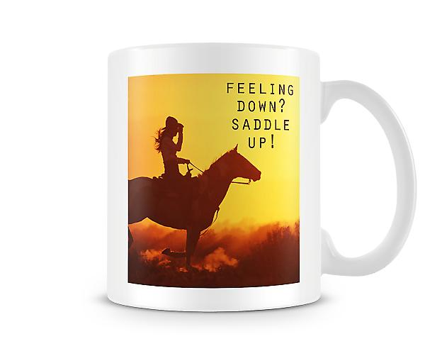 Feeling Down? Saddle Up! Mug
