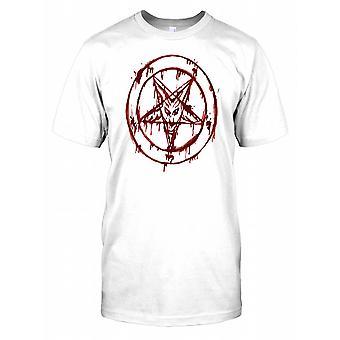 Diablo cara Pentagram niños T Shirt