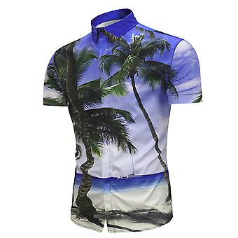 Allthemen heren shirt met korte mouwen 3D shirt Hawaii Beach Short shirt