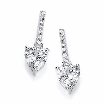 Cavendish French Sparkly Heart Drop Earrings