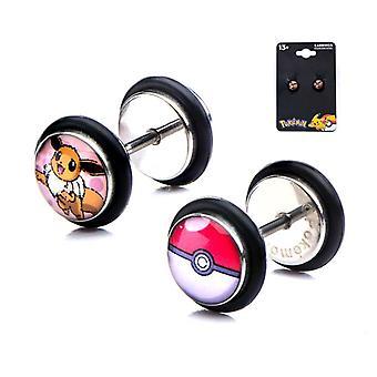 Pokémon Eevee Fake Plug Stud Ohrringe